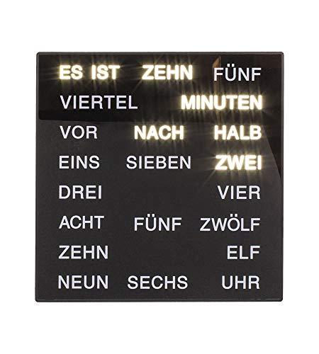Out of the blue Uhr mit Deutscher Wort-Anzeige ca. 20 x 20 cm aus Kunststoff