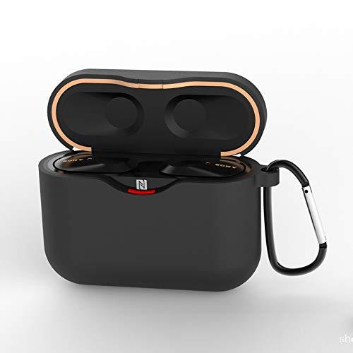 Tookss Kopfhörer-Schutzhülle, 1,5 mm dick, Silikon, für Sony WF-1000XM3 One Schwarz