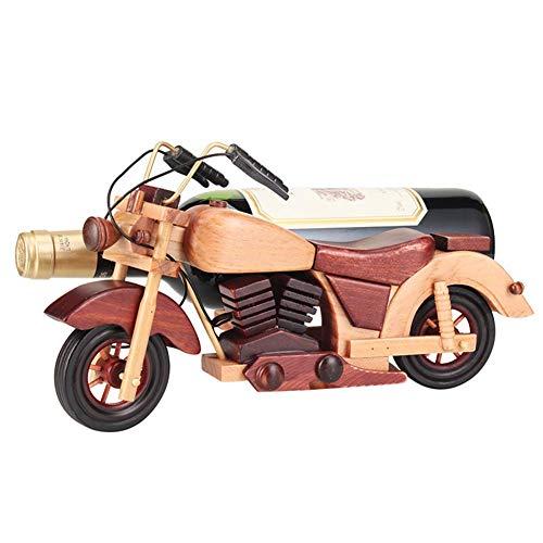ZKAIAI Retro Moderno Estilo Estante Independiente Vino, Vino Estante de Metal, Estante de Almacenamiento, la Forma Creativa de la Motocicleta Ahorro de Espacio