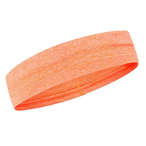 Hoofdbanden zweetband & sport hoofdband voor hardlopen, cross-training, raketbal, workout - Performance Stretch & Moisture Wicking, oranje