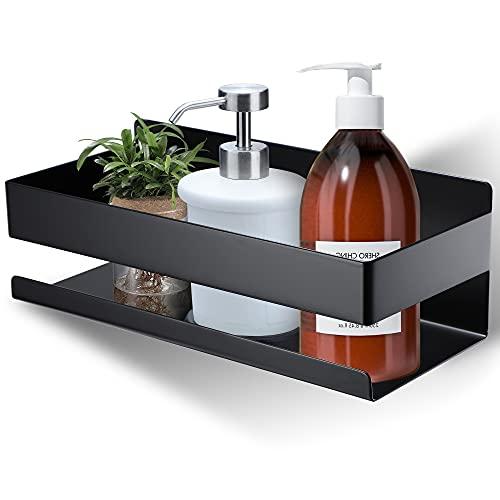 Taozun Duschablage Ohne Bohren - Duschregal Wandmontage Matt Schwarz Selbstklebend Edelstahl, Geeignet für Badezimmer und Küche