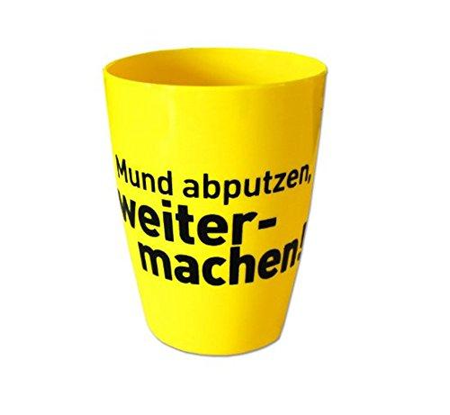 Borussia Dortmund BVB Zahnputzbecher *** Mund abputzen, weiter machen! ***
