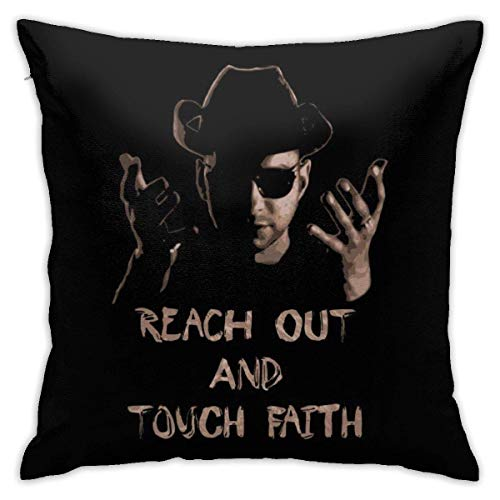 Reach out and Touch Faith Pillowcase, Double-Sided Printing, Hidden Zip Pillowcase, Beautiful Printed Pattern Pillowcase 18X18INCHES