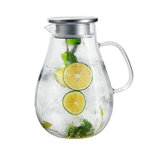 Koffie en Thee Karaf Glazen Bubble Theepot Explosiebestendige Verwarming Juice Pot Thuis Koel Water Fles Met Deksel Filter Fruit Theepot 1900ml