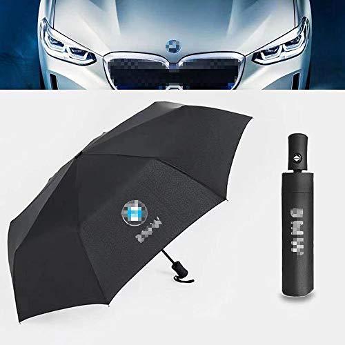 AniFM Paraguas automático Hombres Mujeres Paraguas para BMW Logo M F20 G30...