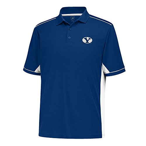 J America Men's Every Day Polo, Navy/White, X-Large, BYU Cougars