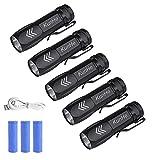KunHe KH003 Mini Small LED Flashlight Usb rechargeable flashlights Pack of 5