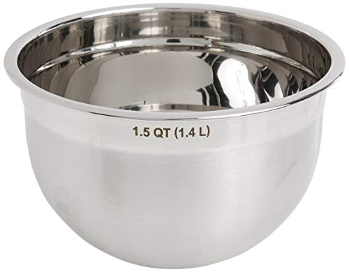 Tovolo Stainless Steel Deep Mixing Kitchen Metal Bowls for Baking & Marinating, Dishwasher-Safe, 1.5 Quart