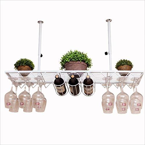 PZW Bancone Bar Bancone Bar Portabottiglie Ristorante Casalinghi Bicchieri da Vino Portabottiglie Retro Iron Art PortabottiglieA, 80 * 25cm