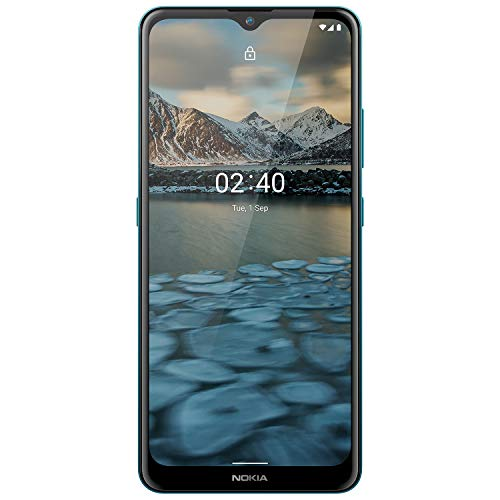 Nokia 2.4 Android 10 Smartphone with Large HD+ Screen, Night Mode and Portrait Mode, 2-Day Battery Life | Fjord Blue
