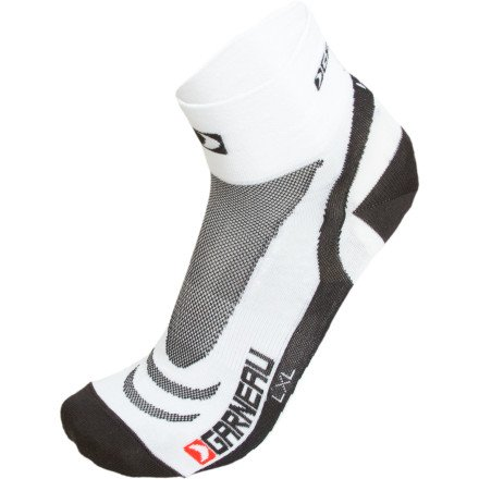 Louis Garneau Socks - Calcetines Bike Venti para hombre, color blanco, talla S - M