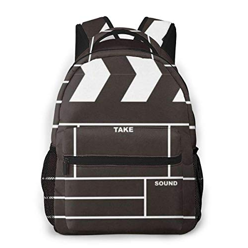 Lawenp Movie Clapboard Casual Backpack For School Outdoor Travel Big Student Fashion Bag