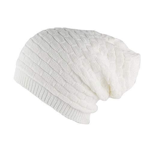 Nyls Création Bonnet Rasta Blanc en Laine Ben Mixte