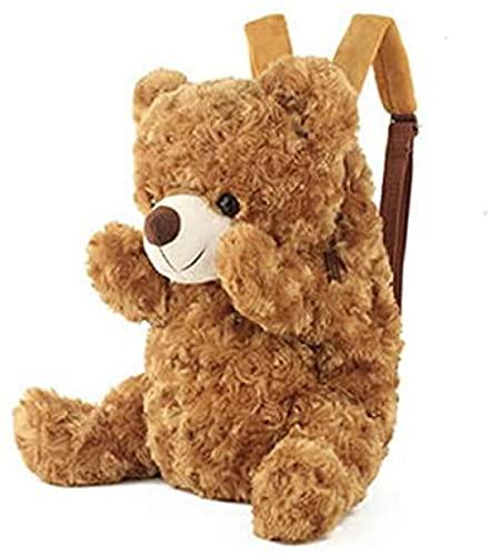 SSFZ Bolsa de jardín de infancia 36 cm para guardería lindo niños mochila de peluche oso de peluche mochila para niños bolsa de escuela de felpa cerrojo bolsas de bebé juguetes