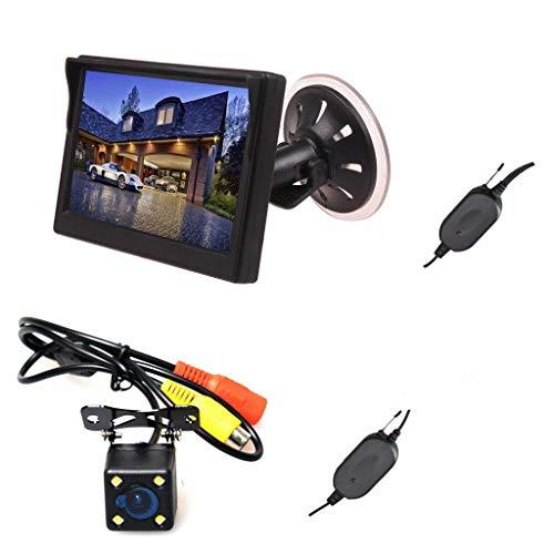 ワイヤレス バックカメラ モニター バックカメラモニターセット 車のフロントガラス吸盤/オンダッシュ取り付け バックカメラLED暗視機能付き 高画質 Cocar バックカメラセット トラック、バス、小型車などに適しています。
