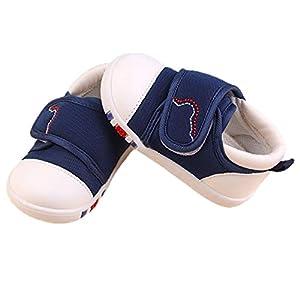 [FUPUTWO] 子供用スニーカー キッズ ベビー シューズ 柔らかい 履きやすい 軽量 滑り止め (14cm, ブルー)