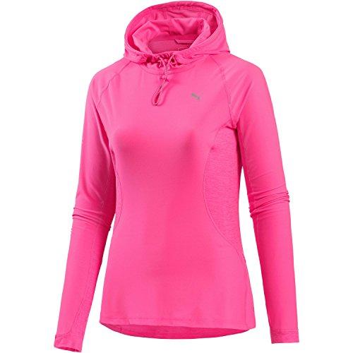 PUMA Damen Run Hooded Top W, Knockout pink-knckt pink Hthr, XL