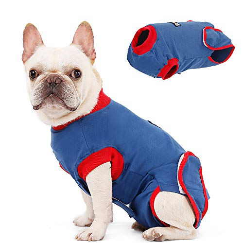Doglemi Dog Recovery Suit, Recovery Shirt für Hunde Katzen nach der Operation, männliche Hündin Bauch Wunden Bandagen Perfect Cone E-Collar Alternative, Anti-Licking Pet Surgical Recovery Anzug