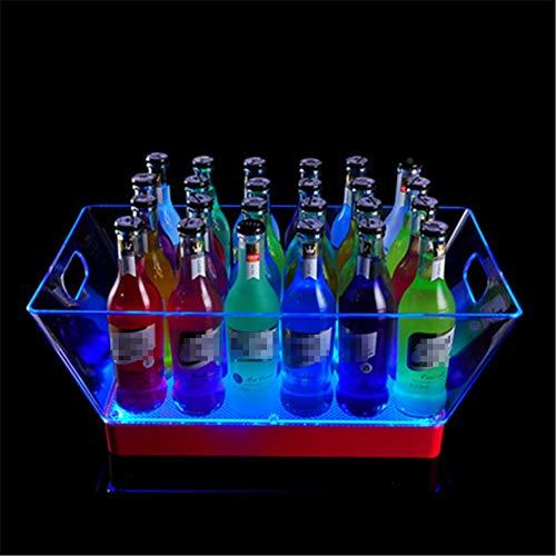 NAY Secchiello del Ghiaccio,Ghiaccio Secchio Luminoso,Portaghiaccio Luminoso Ipotenusa,per Champagne Vino Bevande Birra Ice Cooler Bar Party,Colorful Light