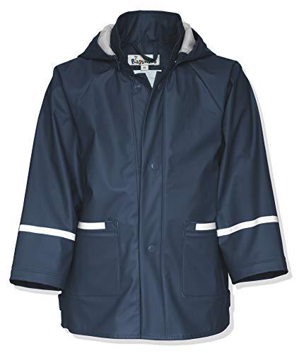 Playshoes Kinder Regenjacke-Mantel mit abnehmbarer Kapuze, Blau (11 marine), Gr. 116