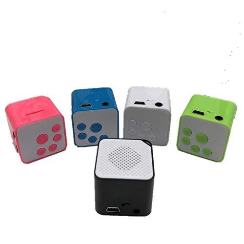 OLPvh MP3-speler, draagbaar, mini, MP3-speler, houder, 16G TF-kaart, merk nieuwe luidsprekers voor campagne, muziekspeler, gemaakt als herensysteem, Wit.