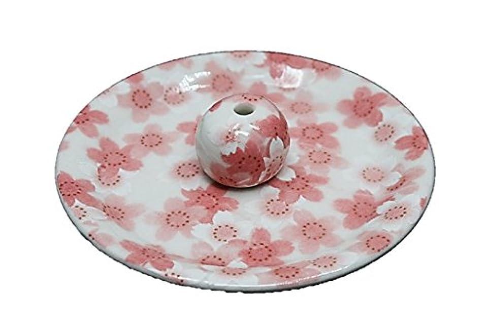 長さスポーツ保守可能9-21 満開桜 9cm香皿 お香立て お香たて 陶器 日本製 製造?直売品