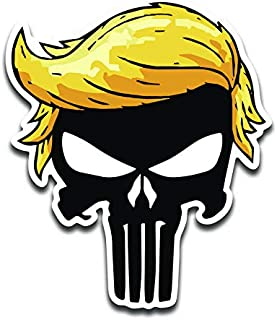 JMM Industries Trumpisher Black Vinyl Decal Sticker Car Window Bumper 2-Pack 4-Inches 4-Inches Premium Quality UV-Protective Laminate PDS2046