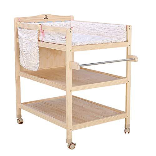 LJYY Holz Mobile Wickeltisch Kommode mit Matratze, Kinderzimmer Baby Aufbewahrung Badewanne Unit Station (Farbe: Style-2)