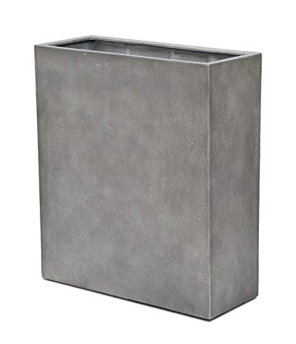 VAPLANTO® Pflanzkübel HIGH Box 60 Beton Grau Raumteiler * 60 x 24 x 74 cm * 10 Jahre Garantie