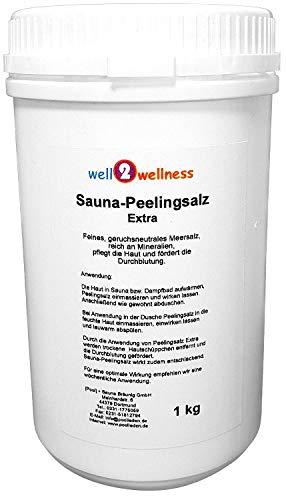 Sauna Peelingsalz Extra/Saunasalz fein 1,0 kg - 100% naturrein aus dem Toten Meer