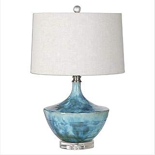 HtapsG Lampe de Table Lampe de Table en céramique Salon Chambre Lampe de Table de Chevet Lampe de Table Design créatif Lam...