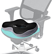 Ergonomic Chair Cushion fits Most Office Chairs, Dinning Chairs, Designed for a Force of Good Sitting Posture, Donut Shape to Release Pressure, Anti Sweat, Travel Handle, Extra Firm