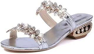 Meimeioo Woman Bohamian Sandals Open Toe Sandals Bling Shoes Casual Summer Boho Shoes