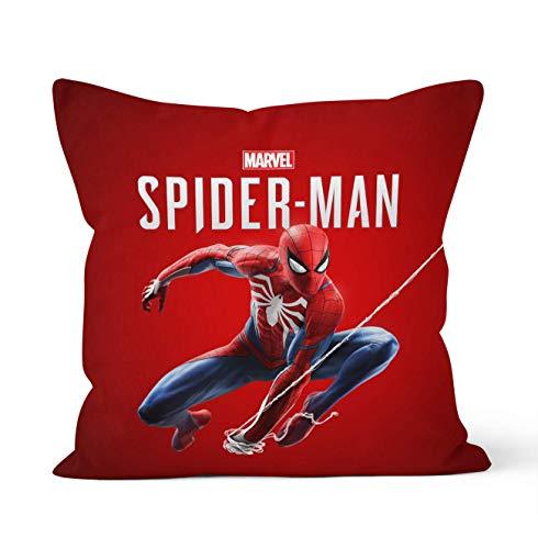 Tainsi Taie d'oreiller décorative double face avec fermeture éclair dissimulée, motif Spiderman #1, pour décoration de voiture, maison, canapé, literie, taille 45 cm x 45 cm.