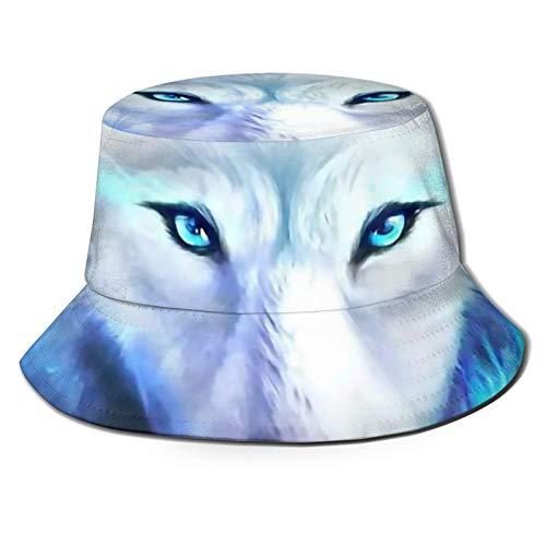 GAHAHA Fischerhüte für Männer, Rose Wölfe Fischerhut Bootfahren Atmungsaktive Sonne UV-Schutz Jungen Faltbarer Sommer Outdoor Hut