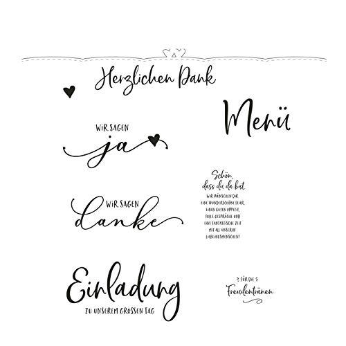 Vaessen Creative MV-CSS-424 Stanz-und Stempelset, Brautpaar, Erstellen Sie Schöne Entwürfe für Scrapbooking, Kartenherstellung und andere Papierprojekte, Silber, 20 x 24 cm