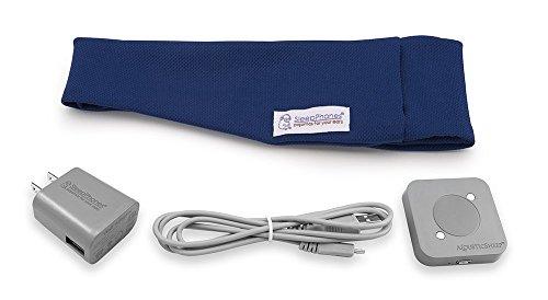 AcousticSheep SleepPhones Effortless | Bluetooth Headphones for Sleep, Travel & More Flat Speakers | No-Fuss Rechargeable Battery | Royal Blue - Breeze Fabric (Size M)