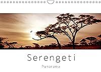 """Serengeti Panorama (Wandkalender 2022 DIN A4 quer): """"Das endlose Land"""" - die Serengeti. Landschaften und Tiere im Panorama Format (Monatskalender, 14 Seiten )"""