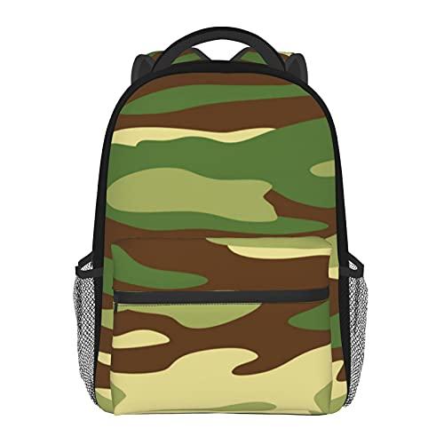 Mochilas escolares militares verde camuflaje casual bolsa de hombro multiusos ligera mochila para niñas/niños