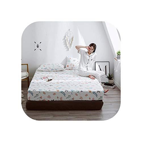 Star Harbor Bettgarnituren 1 Stück Baumwolldruck Bettmatratze Set mit Vier Ecken und Gummibändern-duolahuayuan-80X200X25cm