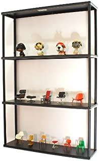 Mango Steam Wall-Mounted Steel Shelving Unit - 36 H X 24 W X 6 D Inches - Black - for Kitchen, Storage, or Display Use.