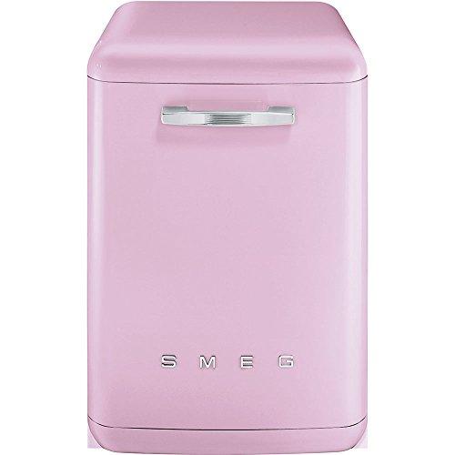 Smeg LVFABPK Stand Geschirrspüler Cadillac Pink Spülmaschine Startzeitvorwahl