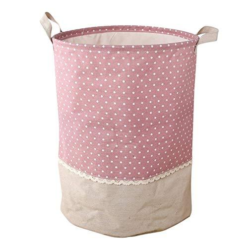 Panamami Wäschekorb, wasserdicht, faltbar, Stoff, Baumwolle, Leinen, Handtasche, Schmutz, Kleidung, Spielzeug Sammlungen