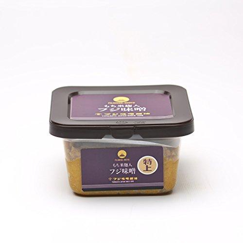 山形県産米ササニシキと国産丸大豆使用・特上味噌(つぶ)(300g)カップ入り・もち米麹入り麹歩合150の最高級味噌