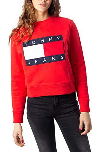 Tommy Hilfiger Sudadera Mujer Large Rojo