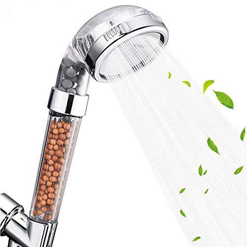 Cabezal de ducha filtrado de mano de 3 pulgadas con manguera y soporte, ahorro de agua de alta presión 3 Función de modo Spray con ducha de lluvia de mano, accesorios de baño con diseño extraíble