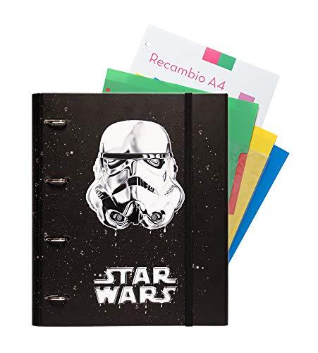 Grupo Erik Editores Star Wars Trooper - Carpeblock con 4 anillas, 32 x 27.5 cm