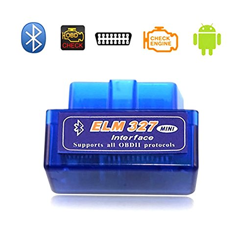 Teekit Scanner Mini ELM327 OBDII OBD2 Bluetooth Auto Diagnostico Auto Scanner per dispositivi Android,V1.5