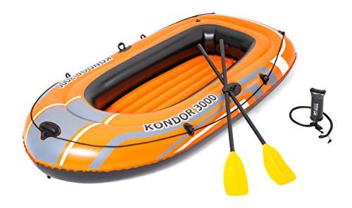 BESTWAY 61102 - Barca Hinchable Kondor 3000 232x115 cm 2 Adultos y 1 Niño