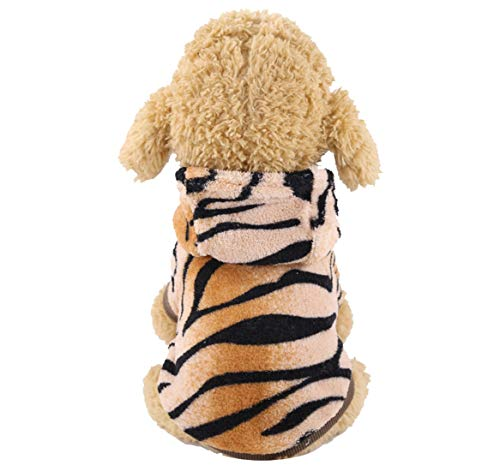 N / A Disfraces De Halloween del Perro Mascota, Tigre De La Felpa Accesorios Cosplay Disfraces para Perros Pequeños y Gatos Perro De Lujo Vestido De Ropa De Halloween